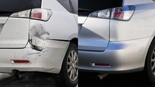 Arregla el golpe del coche con un gran descuento