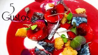 Vanguardia mediterránea - menú para dos en 5 Gustos
