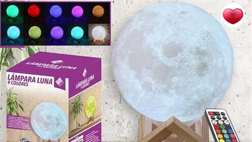 Lámpara Led 3D Luna