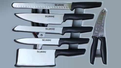 Juego de cubiertos y cuchillos de cocina SILVANO
