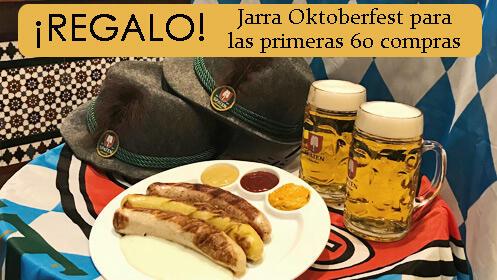 Celebra el Oktoberfest con salchichas y cerveza alemana