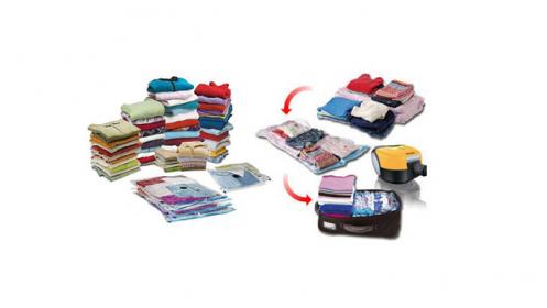 Guarda tu ropa al vacío con este pack de 5 bolsas
