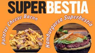 Menú Superbestia con hamburguesa y patatas para dos
