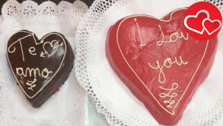Tarta de corazón para un San Valentín muy romántico