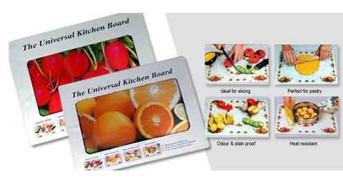 Tabla de cocina universal vidrio irrompible