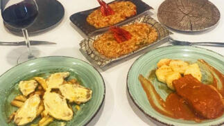 Menú para dos con arroz con carabineros y más ¡para recoger!