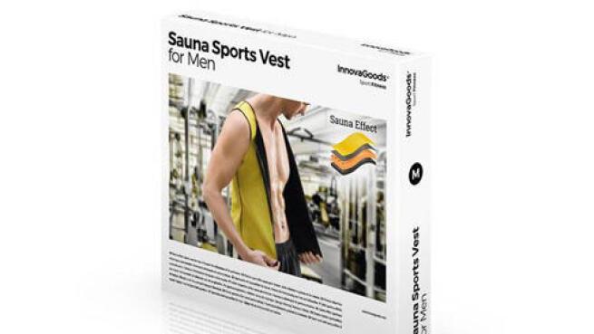 Chaleco deportivo con efecto sauna para hombre