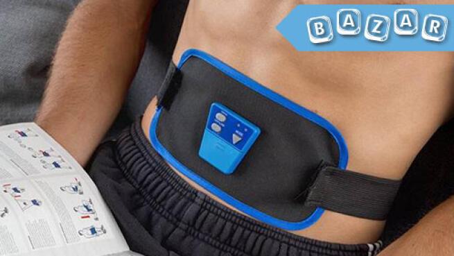 Cinturón electroestimulador para abdominales