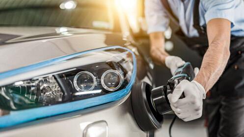 73% de descuento en pulido de faros de coche