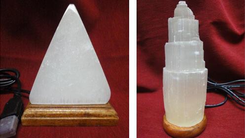 Lámpara de Selenita, piedra relajante ideal como regalo