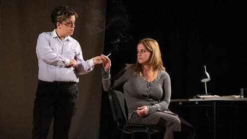 Obra de teatro 'Comunicado de muerte' en la Sala Borja